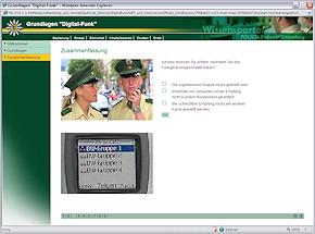 Screenshot elektronische Lernanwendung Polizei Baden-Württemberg