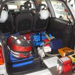 Medizinische Ausstattung im Kofferraum