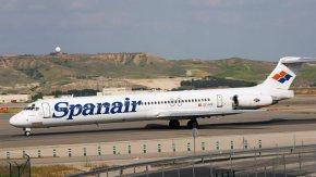MD-82 der Spanair: Offener Triebwerksschaden als Absturzursache gehandelt.