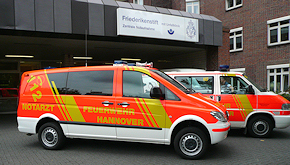 Neu in Hannover: NEF auf Mercedes Vito 115 CDI 4x4, Ausbau TDS. Foto: BF Hannover