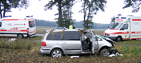 Walsrode: Zwei schwer Verletzte nach Verkehrsunfall. Foto: Polizei