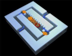 Winzige magnetisierbare Kunststoffkugeln bilden Ventile, Pumpen und Rührer.