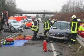 Der BMW geriet auf die Gegenfahrbahn.