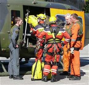 Die Höhenretter wurden mit dem SAR 41 eingeflogen