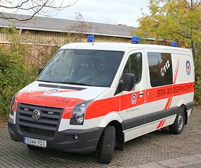 VW Crafter 2.5 TDI: Wasserrettungswagen der Wasserwacht Regensburg. Foto: WW Regensburg