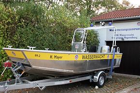 Motorrettungsboot Reich AL MRB 550 BK. Foto: WW Regensburg
