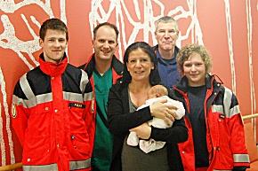 Freuen sich das alles gut geklappt hat, vlnr: Sebastian Pulka, Jan Meins, Christina Stender mit Lynn, Rüdiger Heitmann, Christina Gänßbauer (Foto: RVS Stomarn)