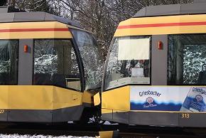 Wieder ein Straßenbahnunfall in Karlsruhe. (Foto: DRK)