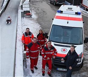 Eine arbeitsreiche Saison liegt hinter den BRK-Sanitätern an der Kunsteisbahn am Königssee. (Foto:BRK)
