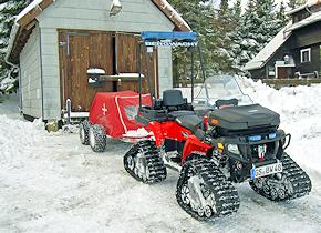 Für die Bergwachtstation Torfhaus: ATV Polaris Sportsman 800 EFI X2. Foto: Bergwacht Harz