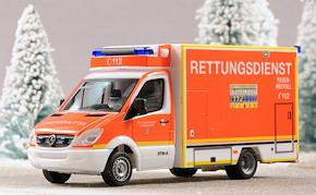 Herpa-RTW nach einem Vorbild der BF Düsseldorf. Foto: Michael Rüffer