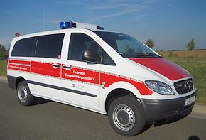 Einsatzfahrzeug für die Psychosoziale Notfallversorgung: Mercedes Vito 4x4. Foto: Wagner/FERD e.V.