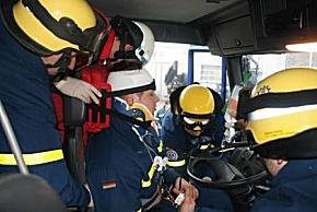 THW trainierte patientengerechte Rettung (Foto: THW Straubing)