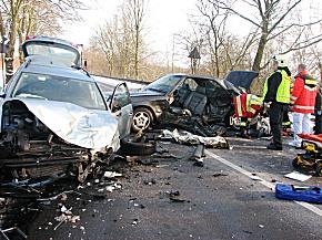 Bild der Unfallstelle (Foto: KPB Mettmann)