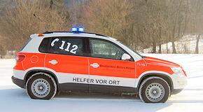 Neues Einsatzfahrzeug der Helfer vor Ort Eningen: VW Tiguan TSI 4Motion. Foto: Tobias Lorch