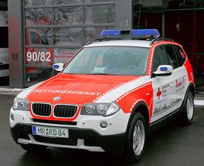 Einer von vier identischen BMW X3 für die LNA und OrgL RD im Kreis Marburg-Biedenkopf. Foto: DRK-Rettungsdienst Mittelhessen