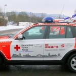 Die Fahrzeuge sind einheitlich im kombinierten DRK-/Johanniter-Design gestaltet. Foto: DRK-Rettungsdienst Mittelhessen
