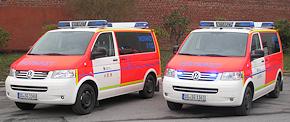 Neu im Fuhrpark der BF Solingen: zwei NEF auf VW T5. Foto: BF Solingen