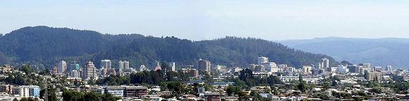 Skyline von Concepción vor dem Erdbeben.