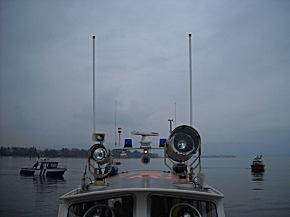 Eine Suchkette aus Rettungsbooten auf dem Bodensee (Foto: Wasserwacht Lindau)