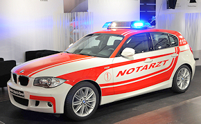 BMW 1er-Modell als NEF. Foto: Michael Rüffer