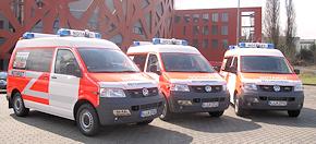 Drei neue NEF auf VW T5 der BF Köln. Foto: BF Köln/Holger Bagusat