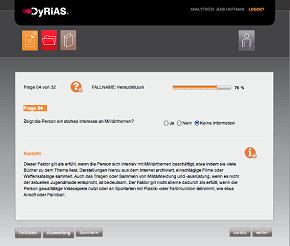 Der Fragenkatalog von DyRiAS hilft bei der Bewertung von Beobachtungen.
