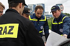 Das THW unterstützt polnische Einsatzkräfte (Foto: THW/Falck Dietrich)