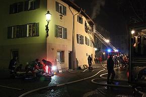Brandeinsatz in der Altstadt (Foto: BRK)