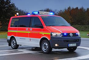 VW T5 2.0 BiTDI 4Motion: erstes Schleswig-Holstein-NEF der neuesten Generation. Foto: RKiSH