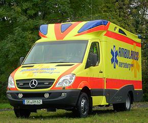 Kann als RTW, ITW, S-RTW und KTW eingesetzt werden: neues Mehrzweckfahrzeug von Ambulance Merseburg. Foto: Ambulance Merseburg