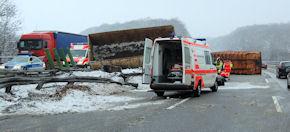 Die Unfallstelle auf der A7 in Fahrtrichtung Hamburg. Foto: Polizei
