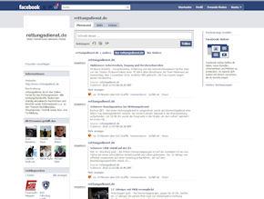 Der neue facebook-Auftritt von www.rettungsdienst.de