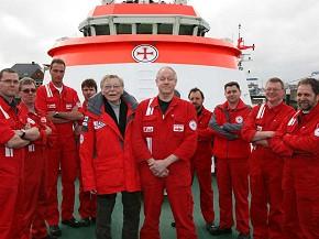 DGzRS-Botschafter Uwe Friedrichsen & Crew (Foto: DGzRS)