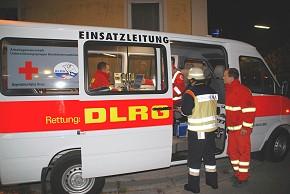 Die UG-SanEL im Einsatz (Foto: DLRG)