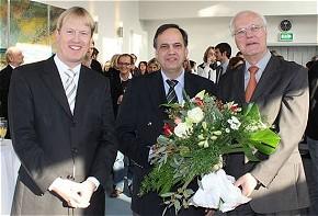 Christian Reuter, ASB-Bundesgeschäftsführer, der ASB-Bundesvorsitzende Knut Fleckenstein und Wilhelm Müller, der scheidende Bundesgeschäftsführer des ASB (v.l.n.r.).  (Foto: ASB)