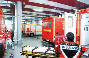 Rettungswache am Frankfurter Flughafen (Foto: Fraport AG)