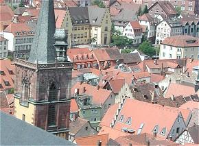 Die Altstadt von Wertheim ist überflutet (Foto: Kadereit, cc-by-sa)