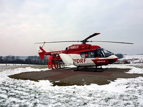 Christoph Weser der DRF Luftrettung bei seinem 7.000. Einsatz (Foto: DRF)