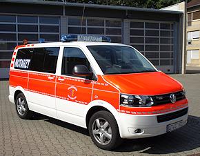 Neues NEF der Feuerwehr Gütersloh: VW T5 2.0 BiTDI 4Motion. Foto: Feuerwehr Gütersloh