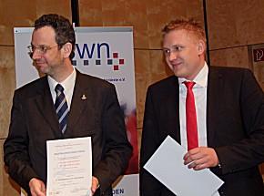 Dr. Andreas Bohn und Dr. Roman Lukas bei der Preisverleihung