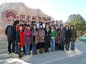 Chinesische Teilnehmer mit deutschen Dozenten (Foto: JUH)