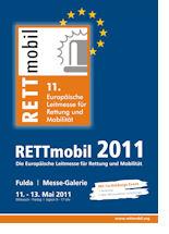 Plakat der 11. RETTmobil. Grafik: Messe Fulda