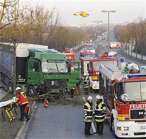 Unfall Dachauerstraße (Foto: BF-München)