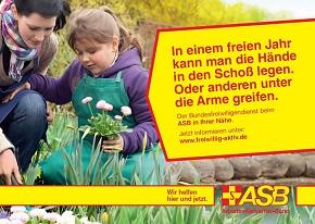 Kampagne zur Gewinnung von Freiwlligen (Foto: ASB)