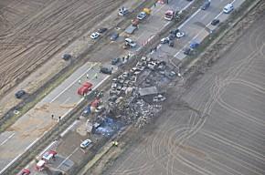 Luftaufnahme der Unfallstelle (Foto: Polizei Mecklenburg-Vorpommern)
