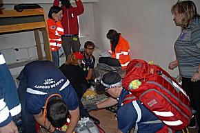 Das Paramedic-Team Flagler County EMS (Foto: Redelsteiner)