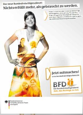 Anzeigenmotiv der Kampagne für den Bundesfreiwilligendienst