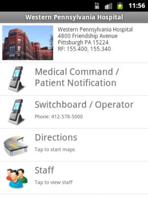 Direkter Draht in die Zielklinik: Im EMS Field Partner sind alle Kontaktdaten der regionalen Krankenhäuser hinterlegt.