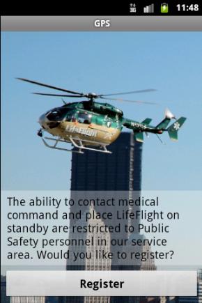 Die Alarmierung und Übermittlung von Einsatzdaten an die Luftrettung erfordert eine Registrierung um mutwillige Fehlalarme zu vermeiden.